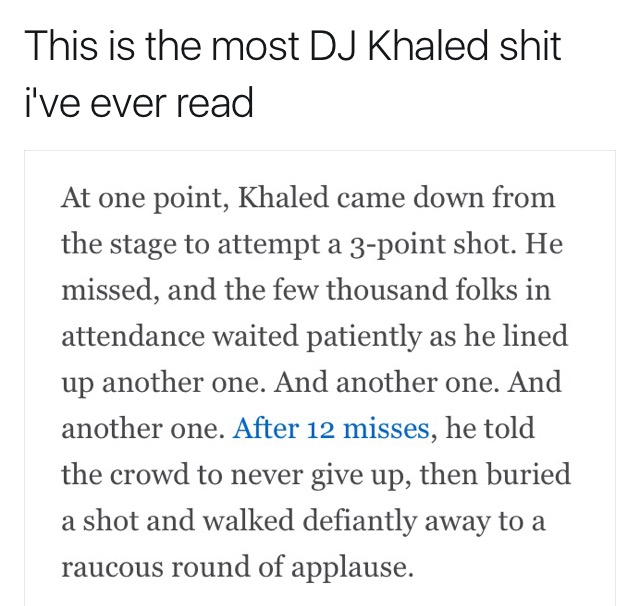 [Image]Dj Homogeneous Khalidius Motivates Us Again (Repost From /R/BlackPeopleTwitter)