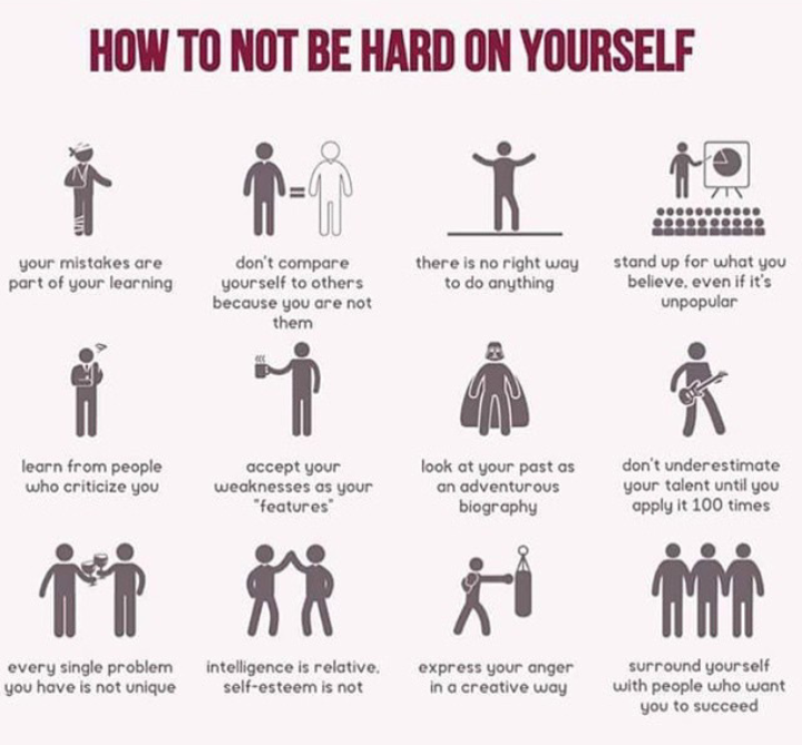 [Image] How to not be hard on yourself