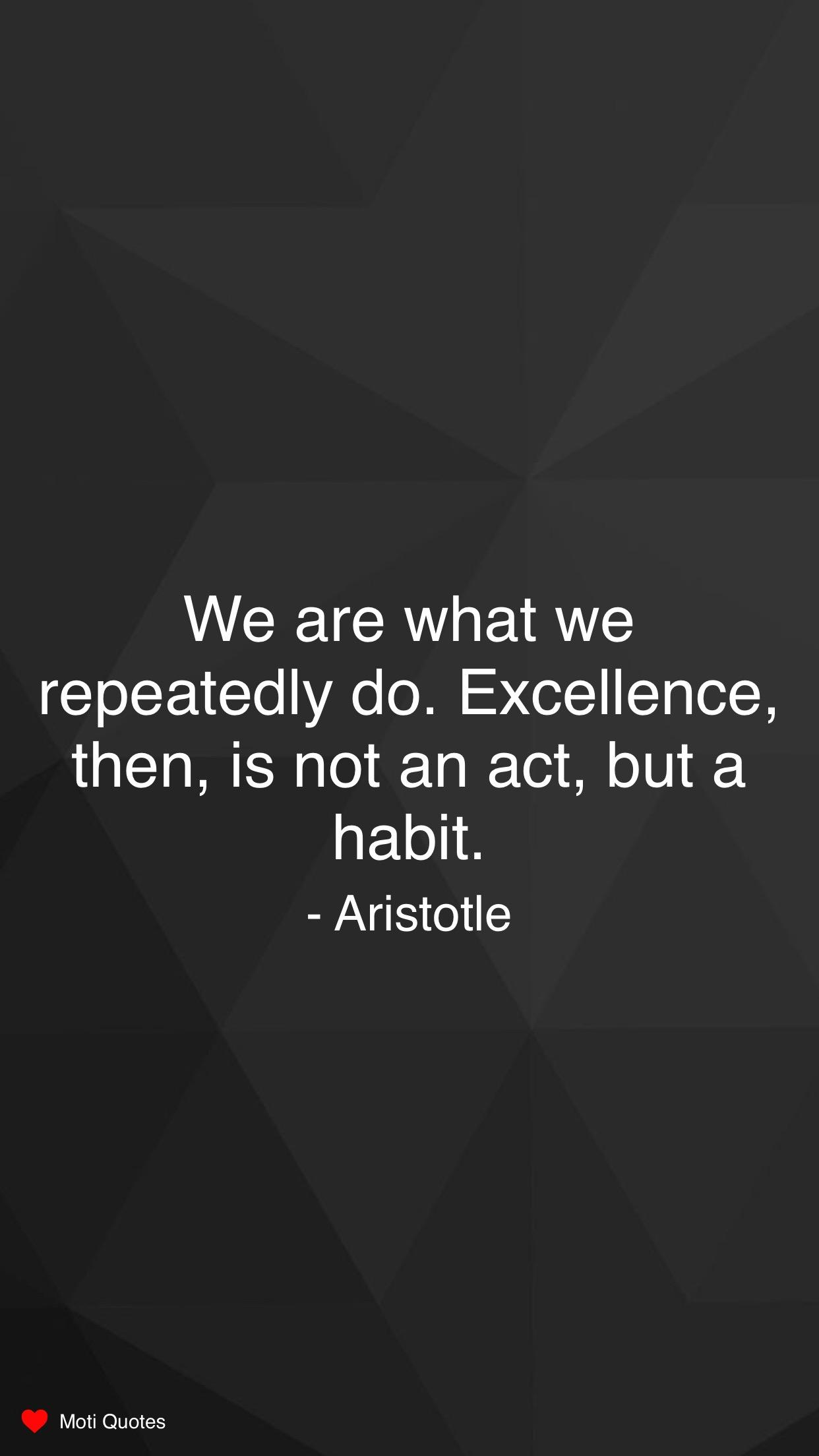 [Image] Make it a habit – artistotle