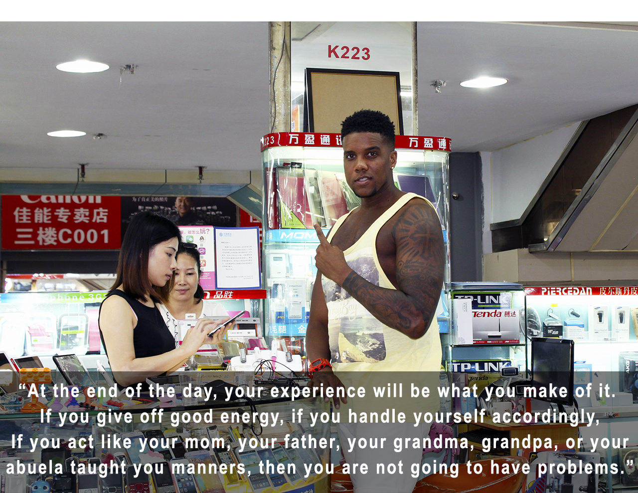 [Image] Words from a black man who decided to move to china