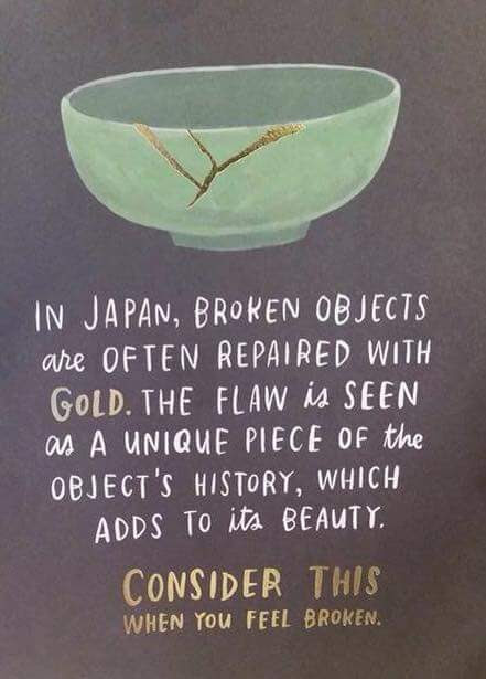 [Image] Repair your flaws with gold as they do in Japan.
