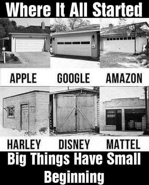 [Image] Big things have small beginnings