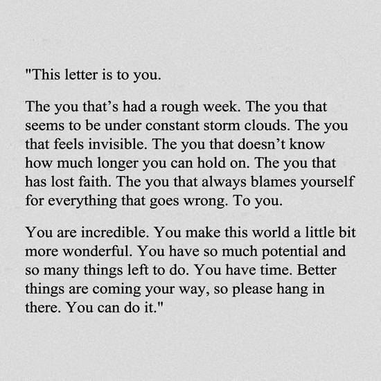 [Image] A Letter To You