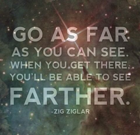 Go as far as you can see.  When you get there, you'll be able to see farther.
