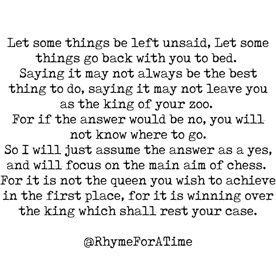 [Image] Let some things be left Unsaid!