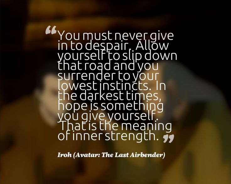 [Image] The Meaning of Inner Strength. Who Could Get Tired Of Iroh?
