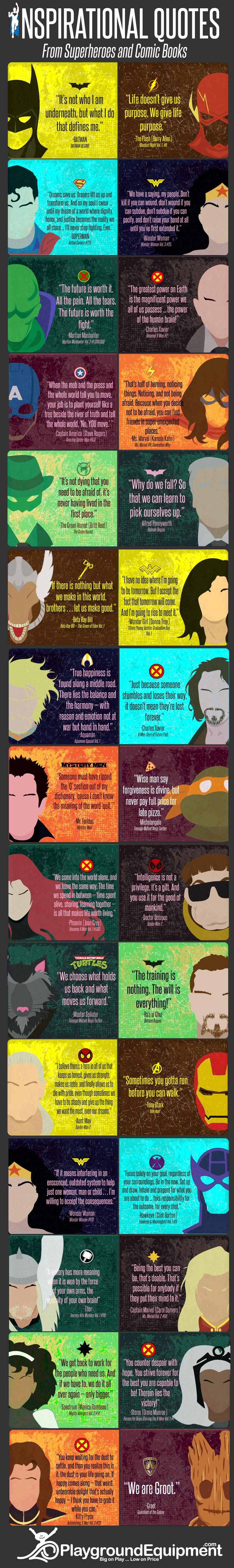 [Image] Inspirational Quotes from Superheroes and Comic Books