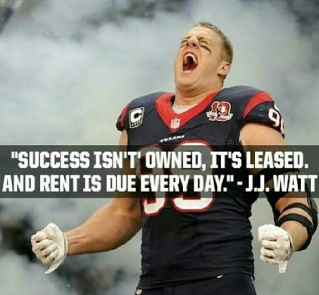 [Image] Success isn't owned.