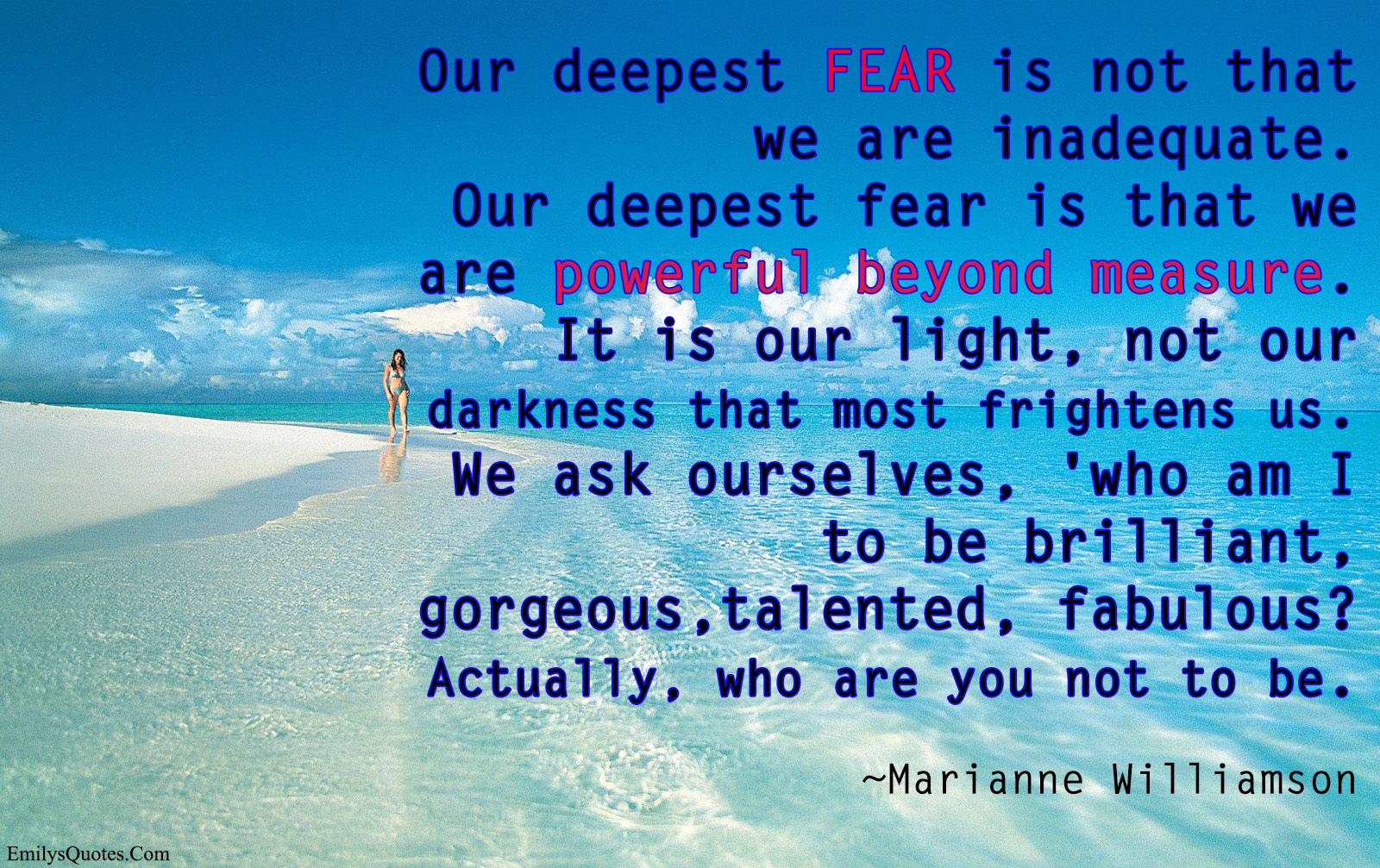 [Image]Author Marianne Williamson On Fear