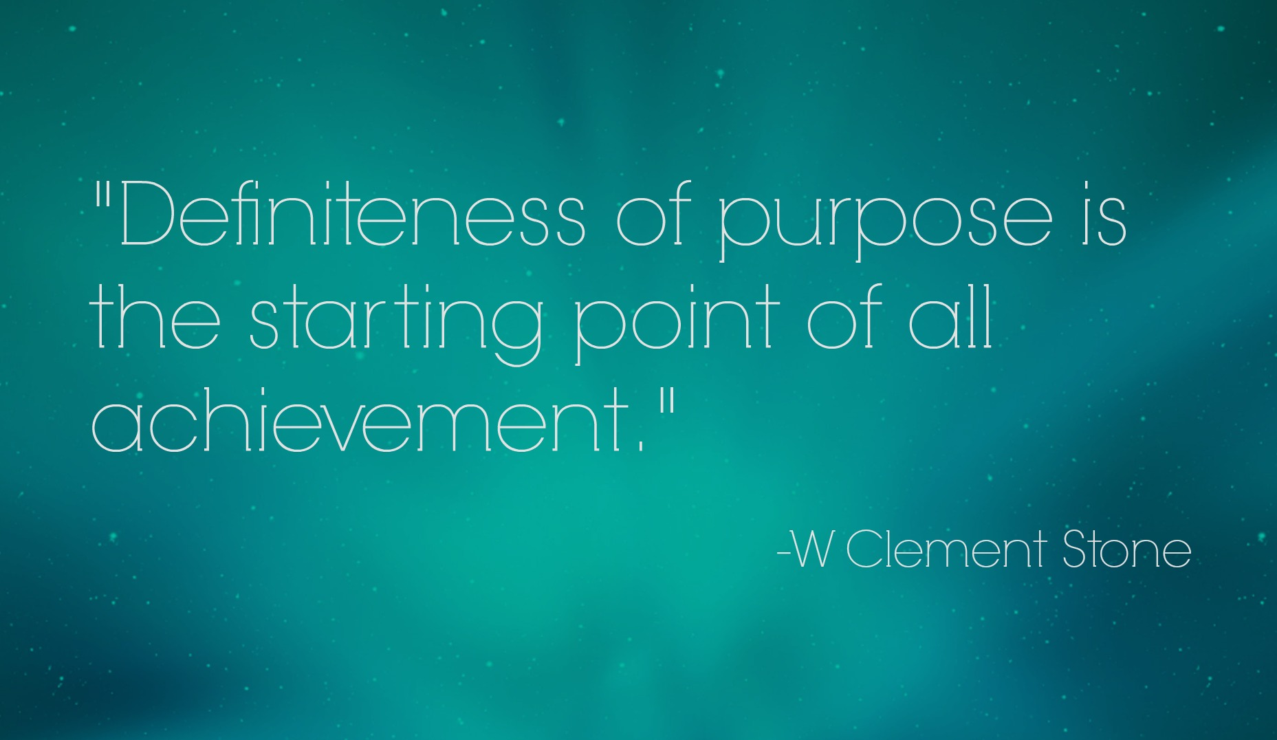 [Image] I like that thought of W clement stone..