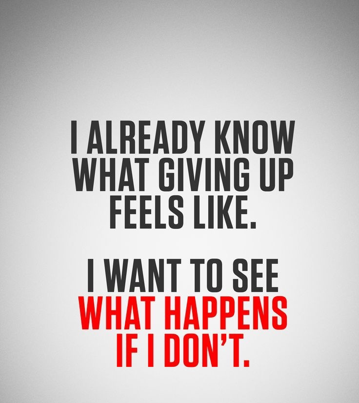 [Image] What happens if you don't give up…