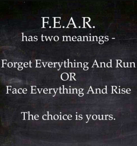 [Image] Only you can decide how to look at and handle fear.
