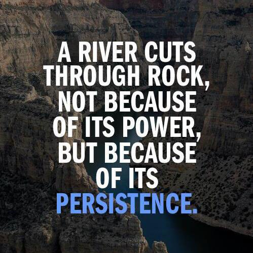 [Image] Its all about our persistence.