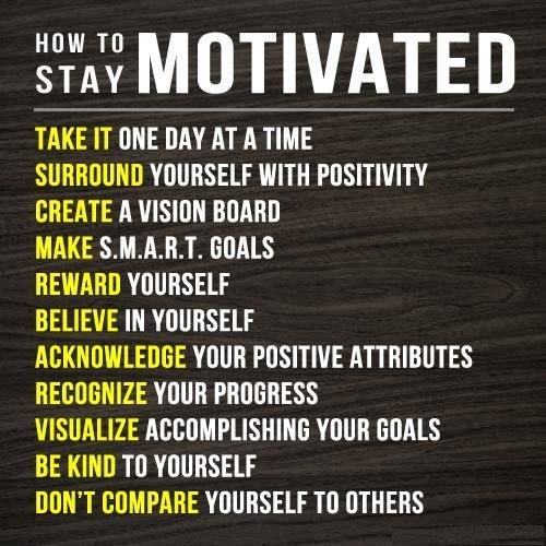 [Image] How to Stay motivated