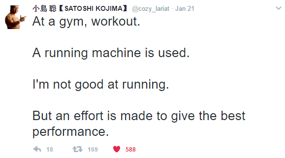 [Image] An Inspirational Tweet From Japanese Wrestler Satoshi Kojima