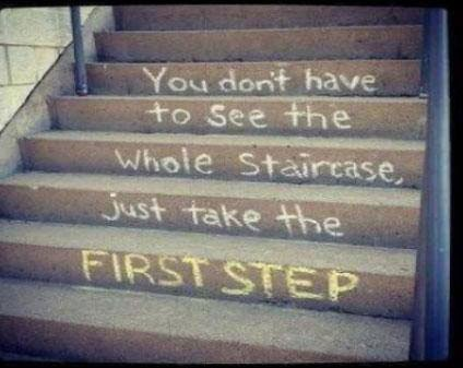 [Image] Just take the first step.