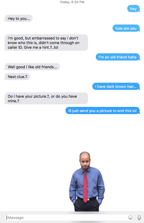 [image] If you have trouble making new friends, there's still hope. made a new friend today from craigslist acting like an old friend from his past.