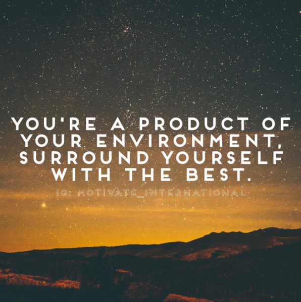 [IMAGE] a product of your environment