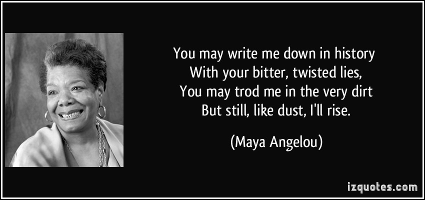 [Image] You may write me down in history