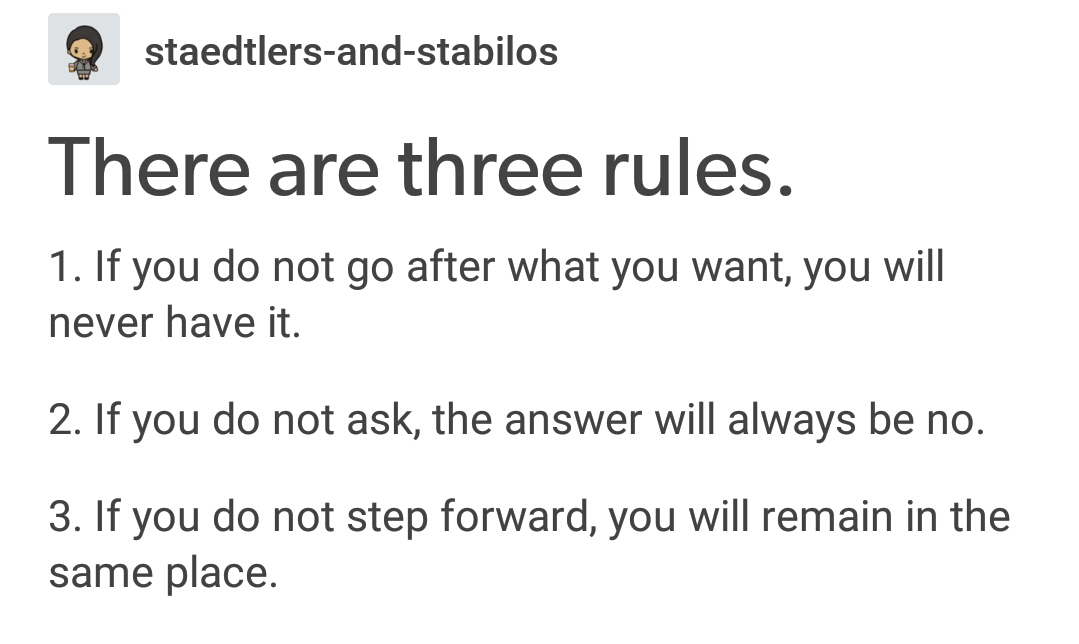 [Image] Three Simple Rules