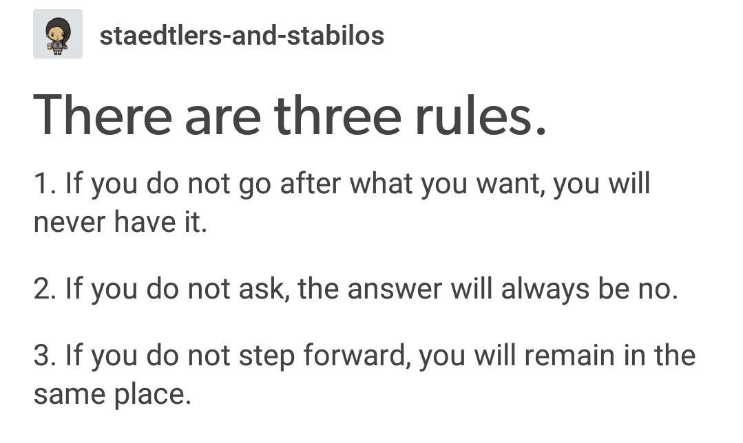 [Image] Three Simple Rules