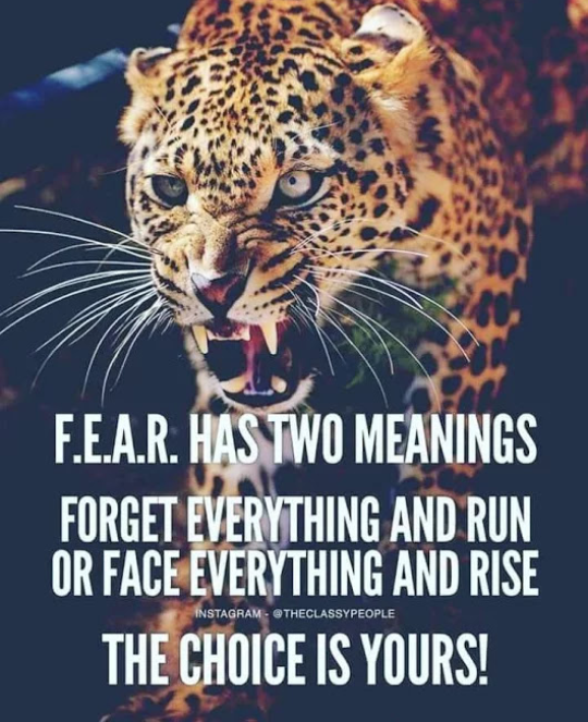 [Image] Choose what you do fear
