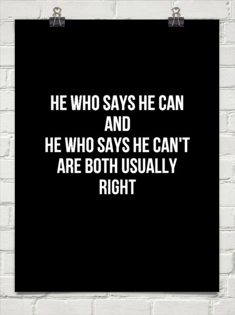 [Image]He who says he can