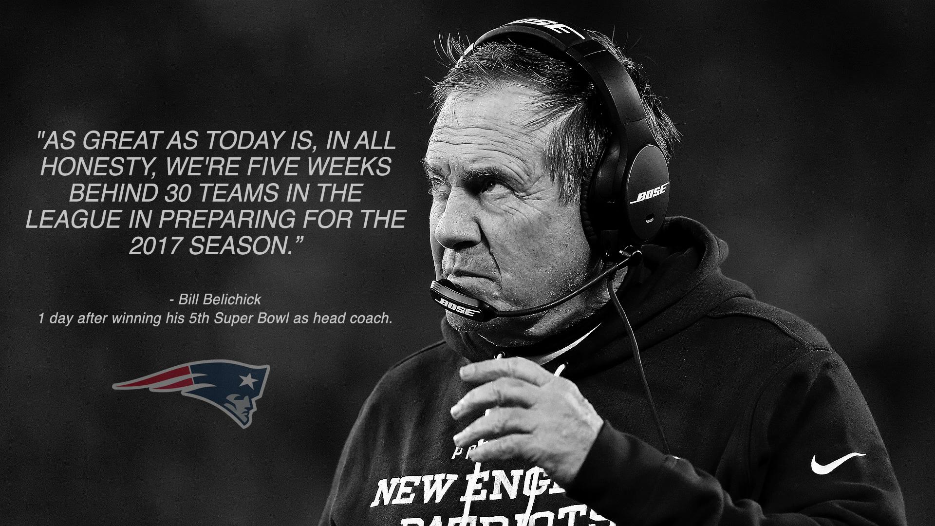 [image] Superbowl Inspiration from coach belichick's press Conference today.