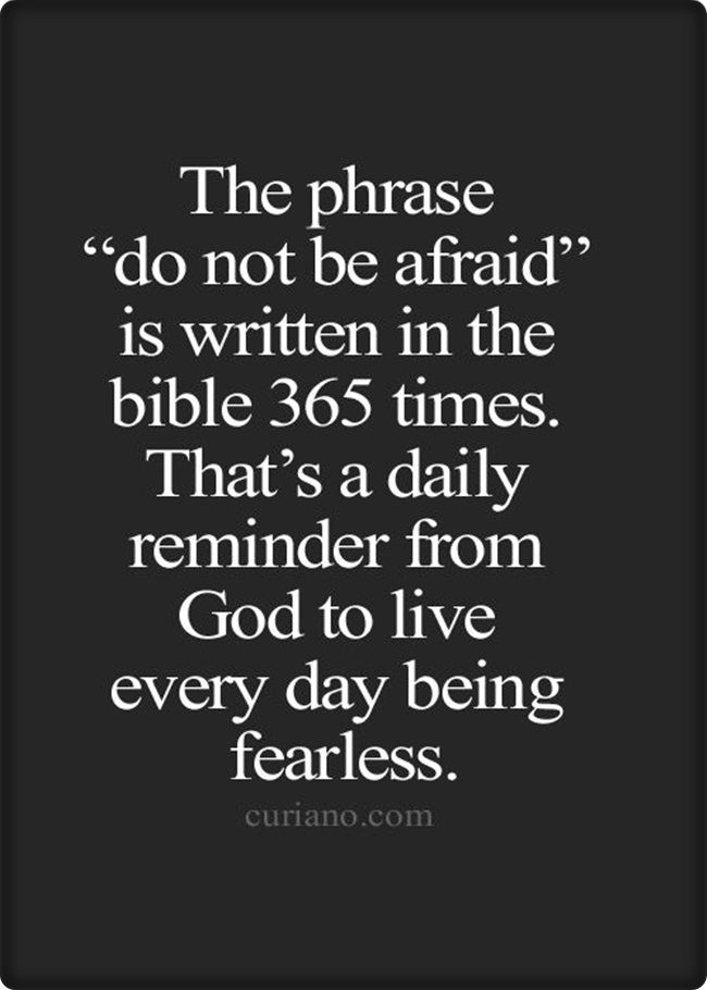 [Image] do not be afraid