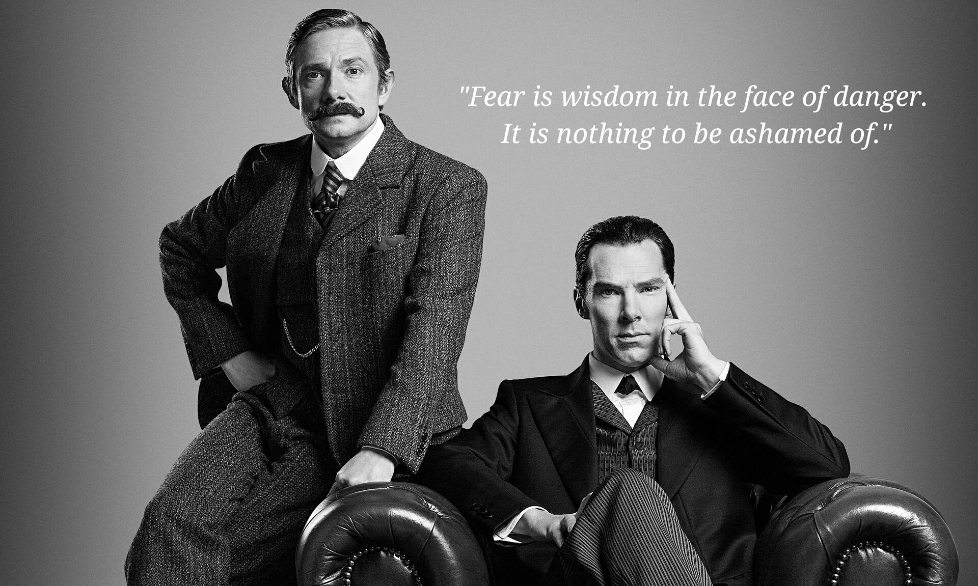 [Image] Sherlock Holmes on fear