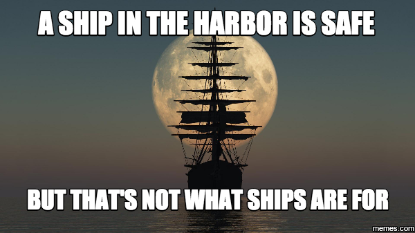 [Image] A Ship In The Harbor