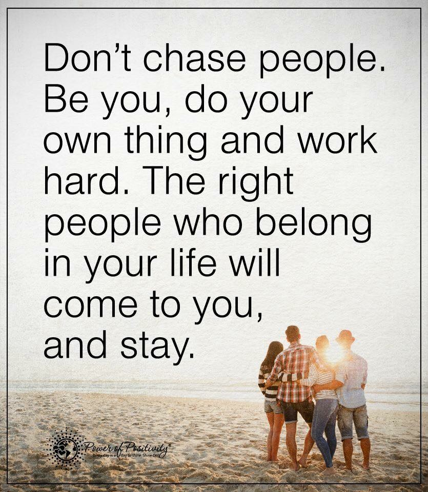 [Image] Don't chase people.