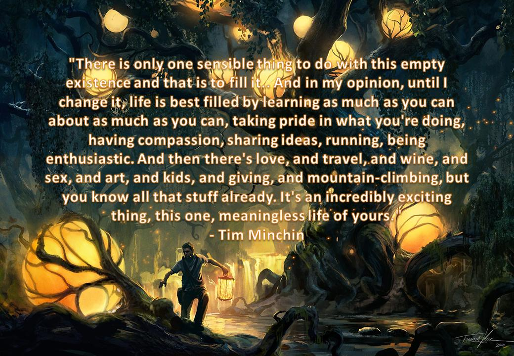 [Image] The concluding words of Tim Minchin's commencement address