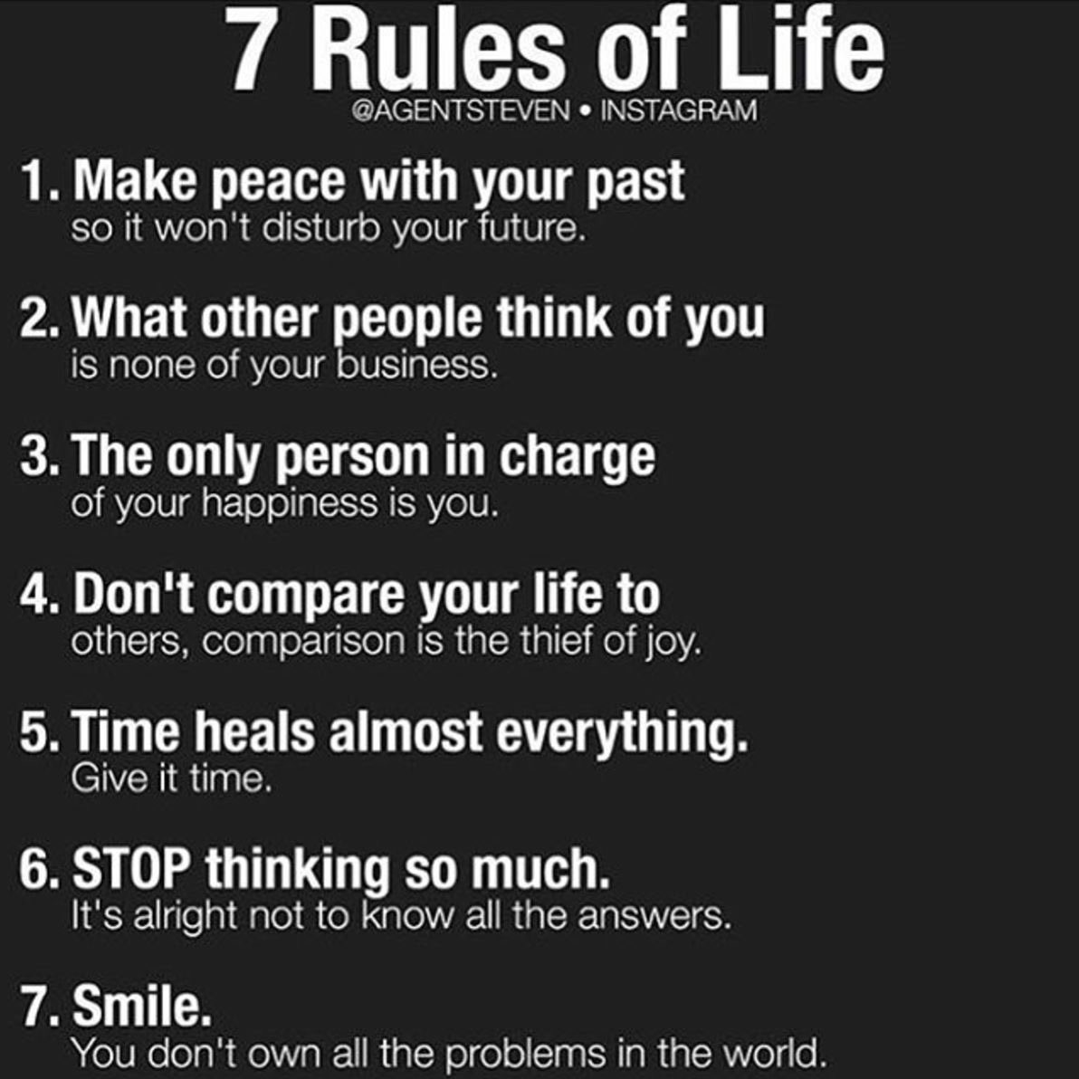 [Image] 7 rules of life