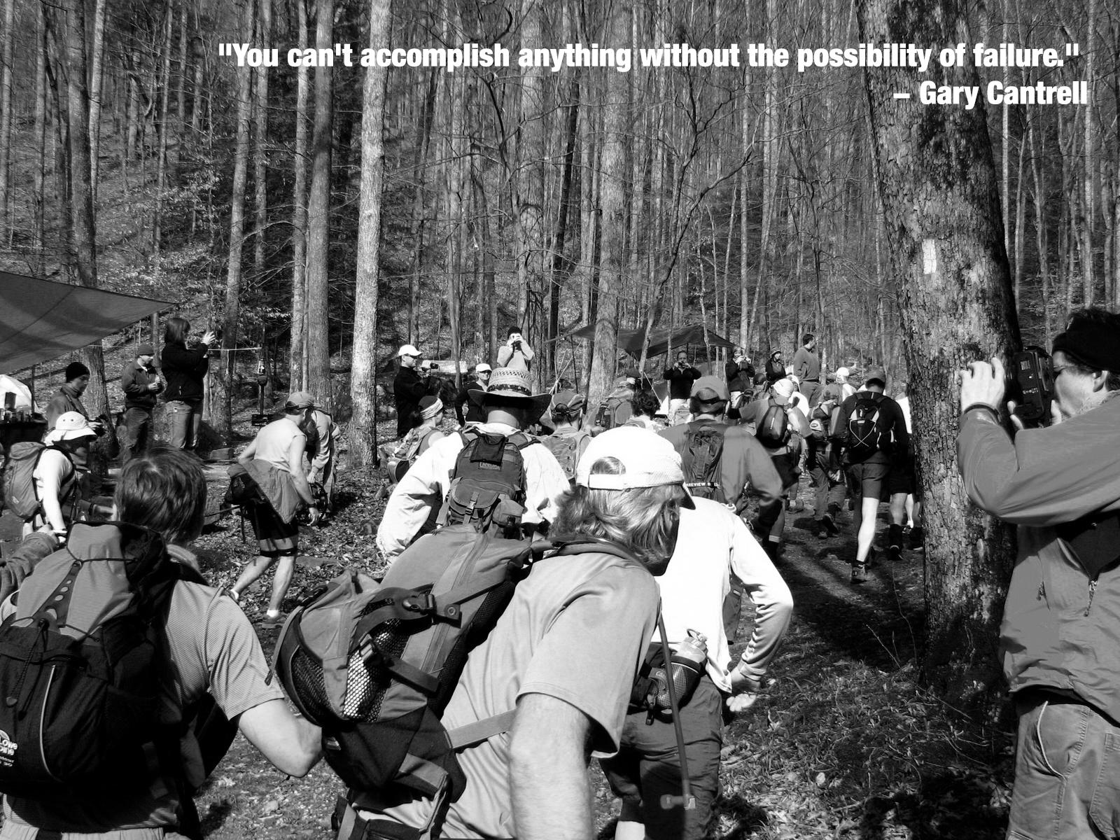 [Image] Wise words from the creator of one of the world's toughest footraces