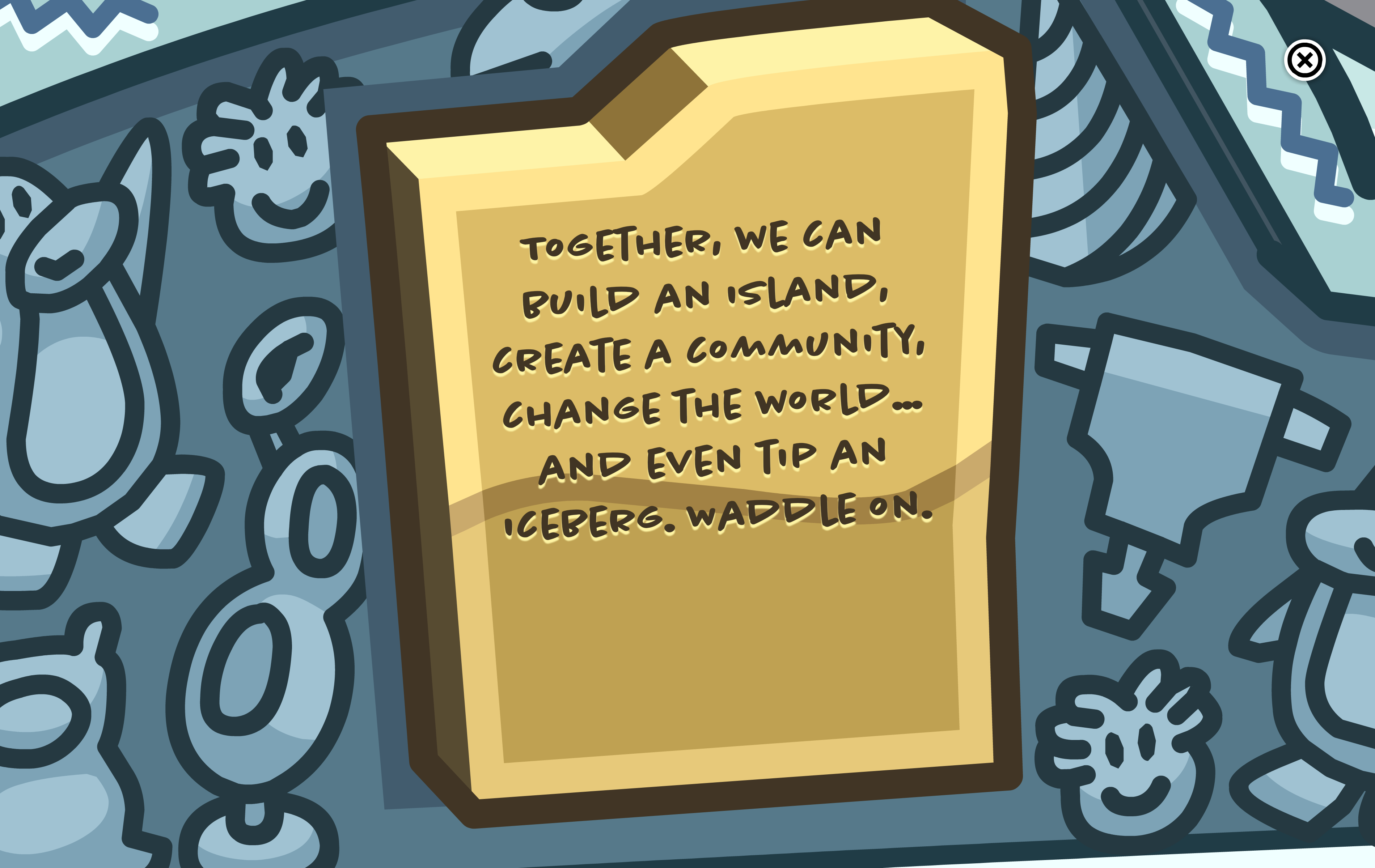 [Image] Club penguin coming in with the most real motivation.