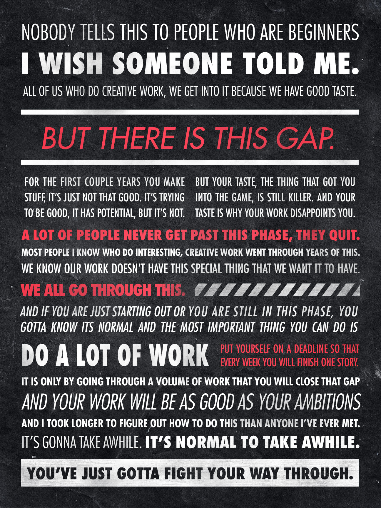[Image] You've just gotta fight your way through