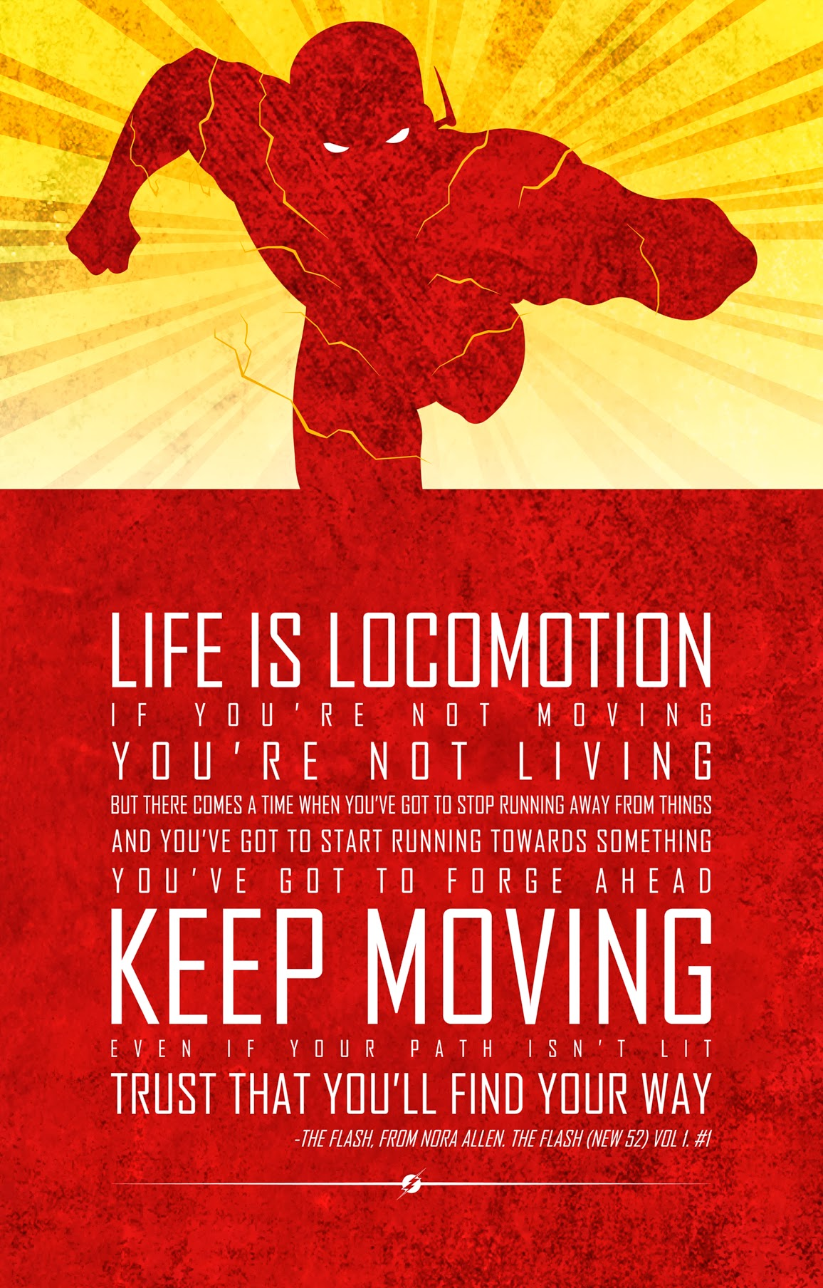 [Image] Superhero comics always motivate me. Here's a quote from The Flash.