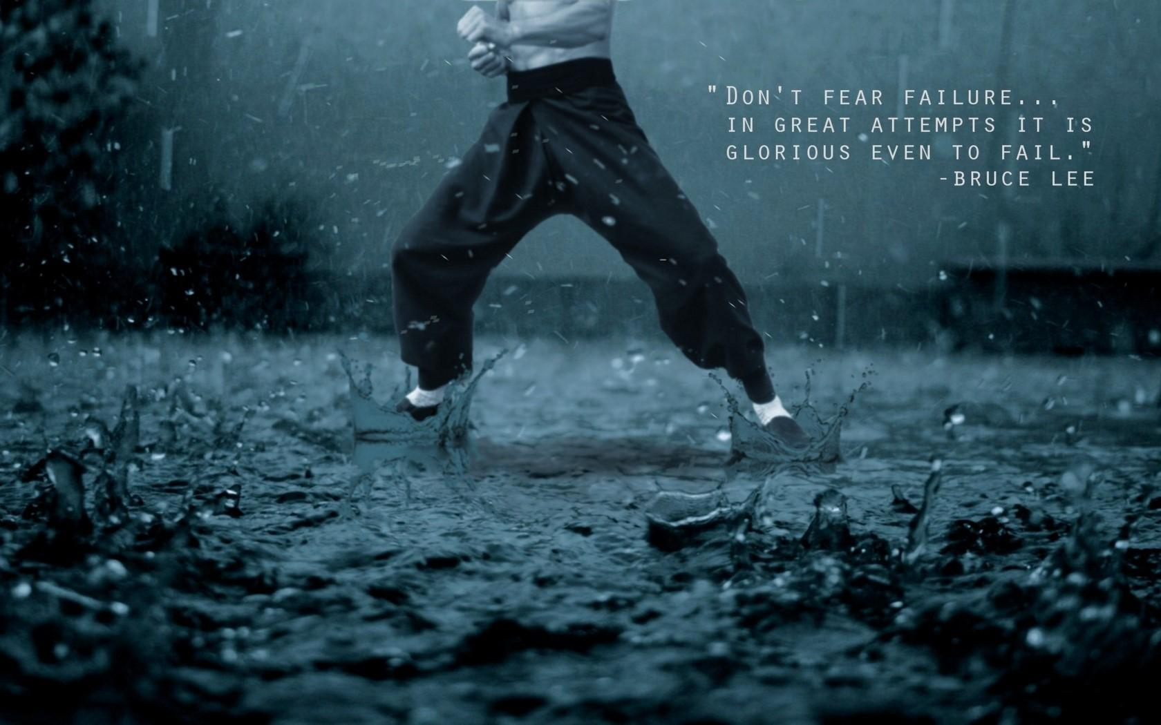 "[Image] ""Don't fear failure… in great attempts it is glorious even to fail."" ~ Bruce Lee"
