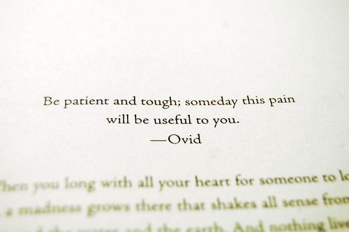 [Image] Be patient and tough…