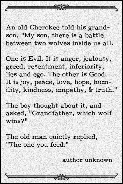 [Image] which wolf are you feeding on a daily basis?