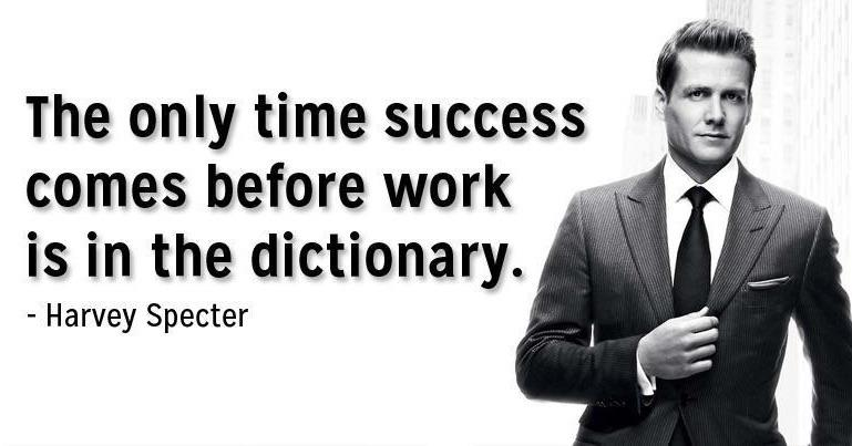 [Image] The secret to success is hard work