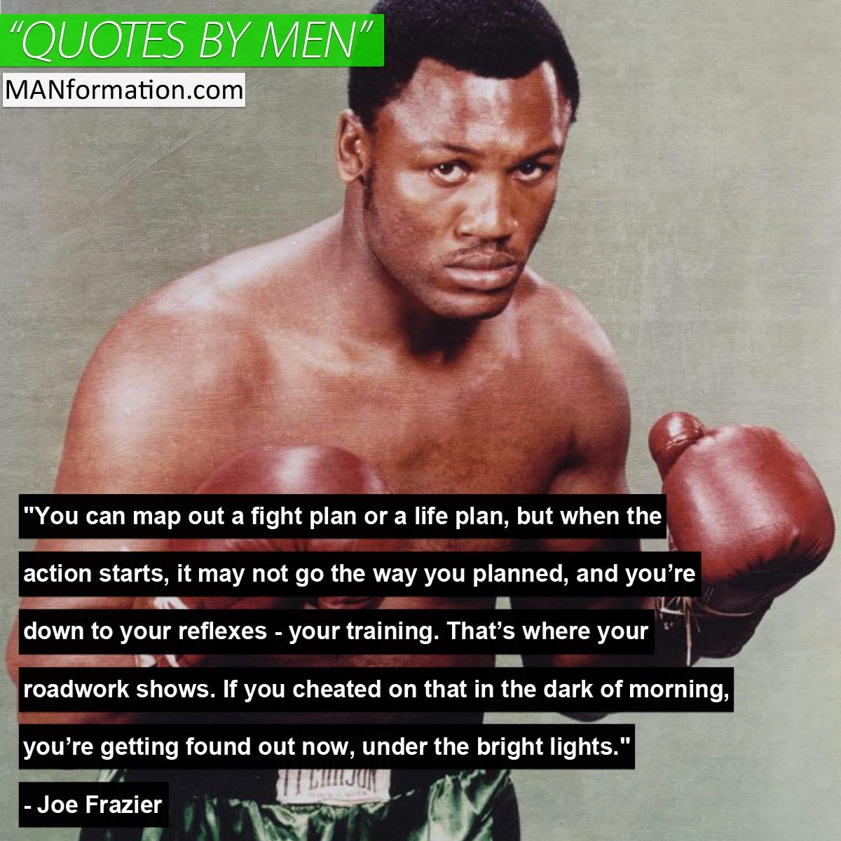 [Image] Joe Frazier: The Roadwork