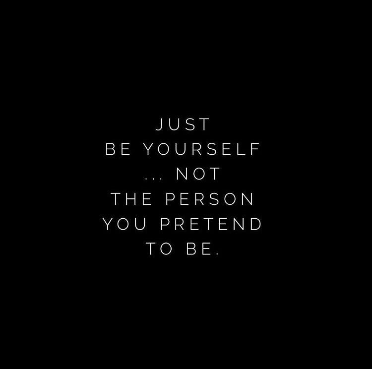 [Image] Just be yourself!