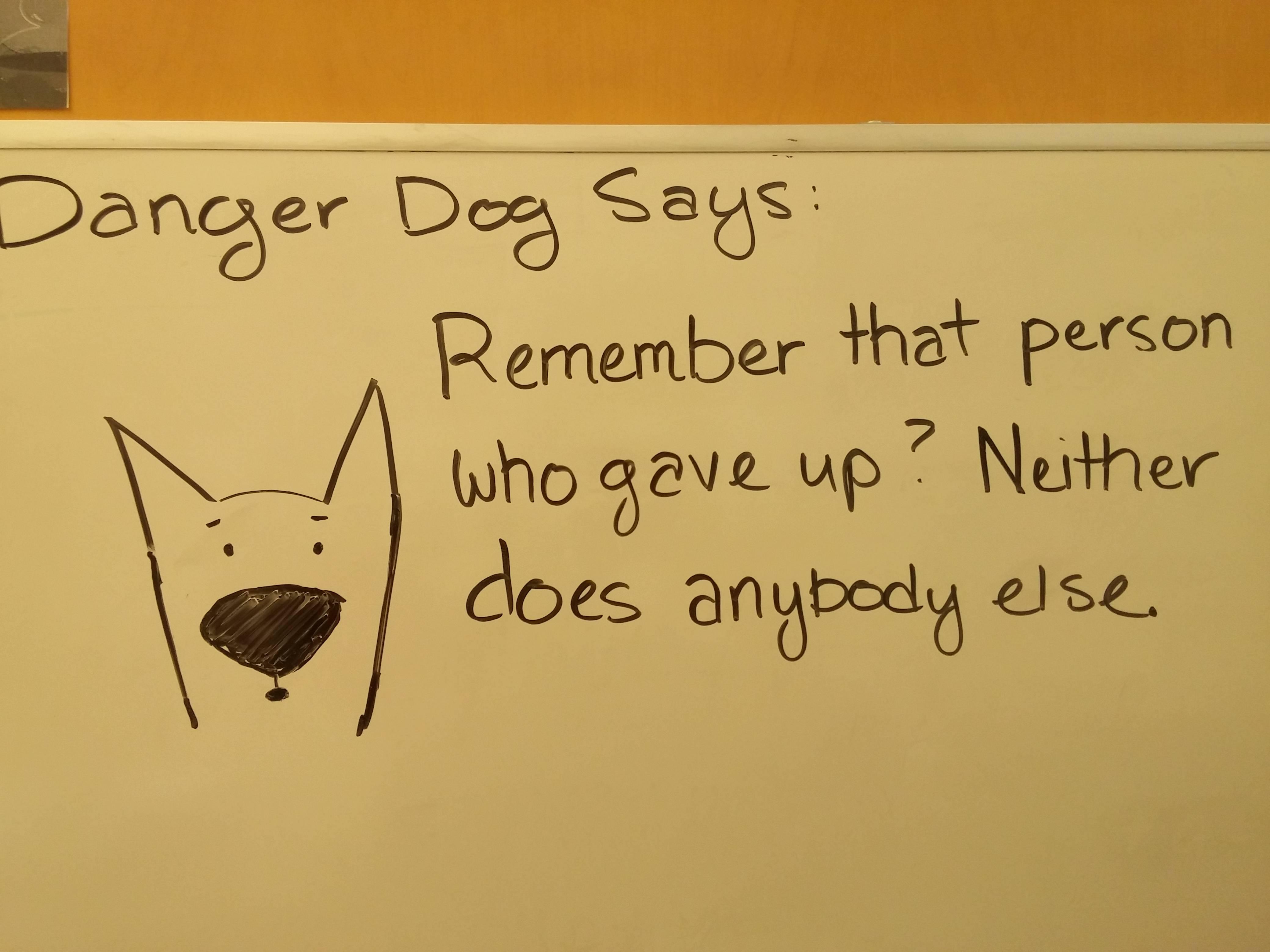 [Image] Thanks again, Danger Dog.