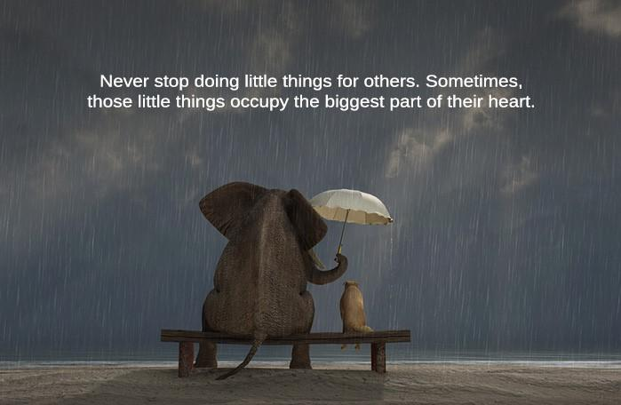 [Image] Never Stop Doing Little things For Others