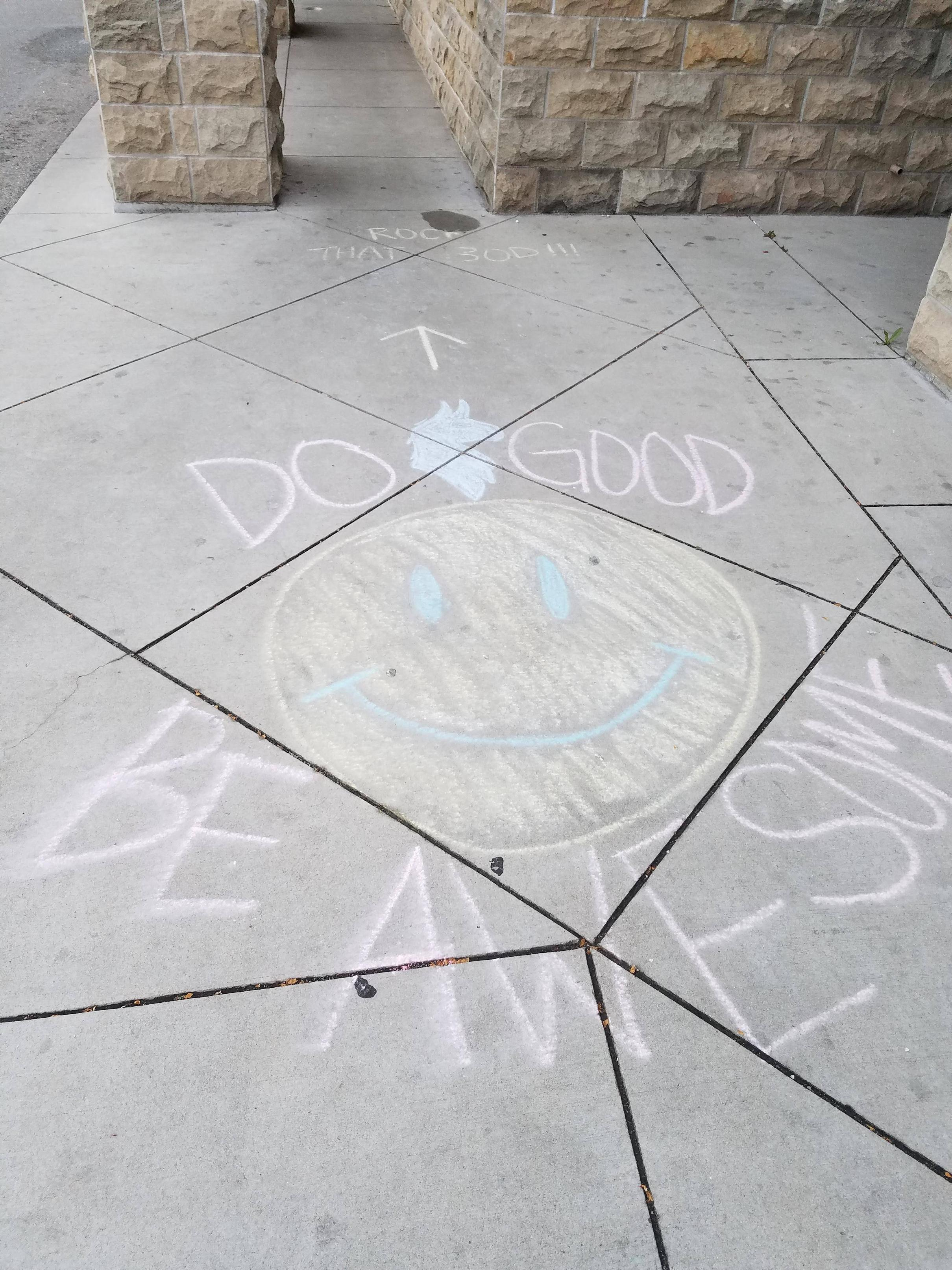 [Image] On my way to the gym and saw this in the sidewalk