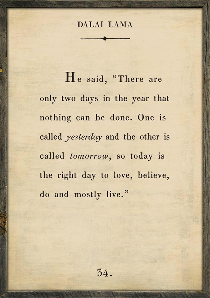 [image] There are only 2 days that nothing can be done…
