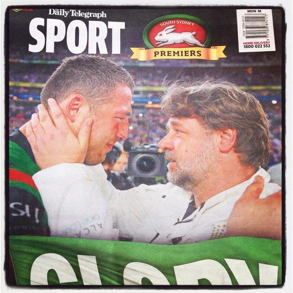 [Image] Sam Burgess, 2014 Grand Final – breaks cheek & eye socket in opening seconds, plays whole game leading team to victory for first time in 43 yrs