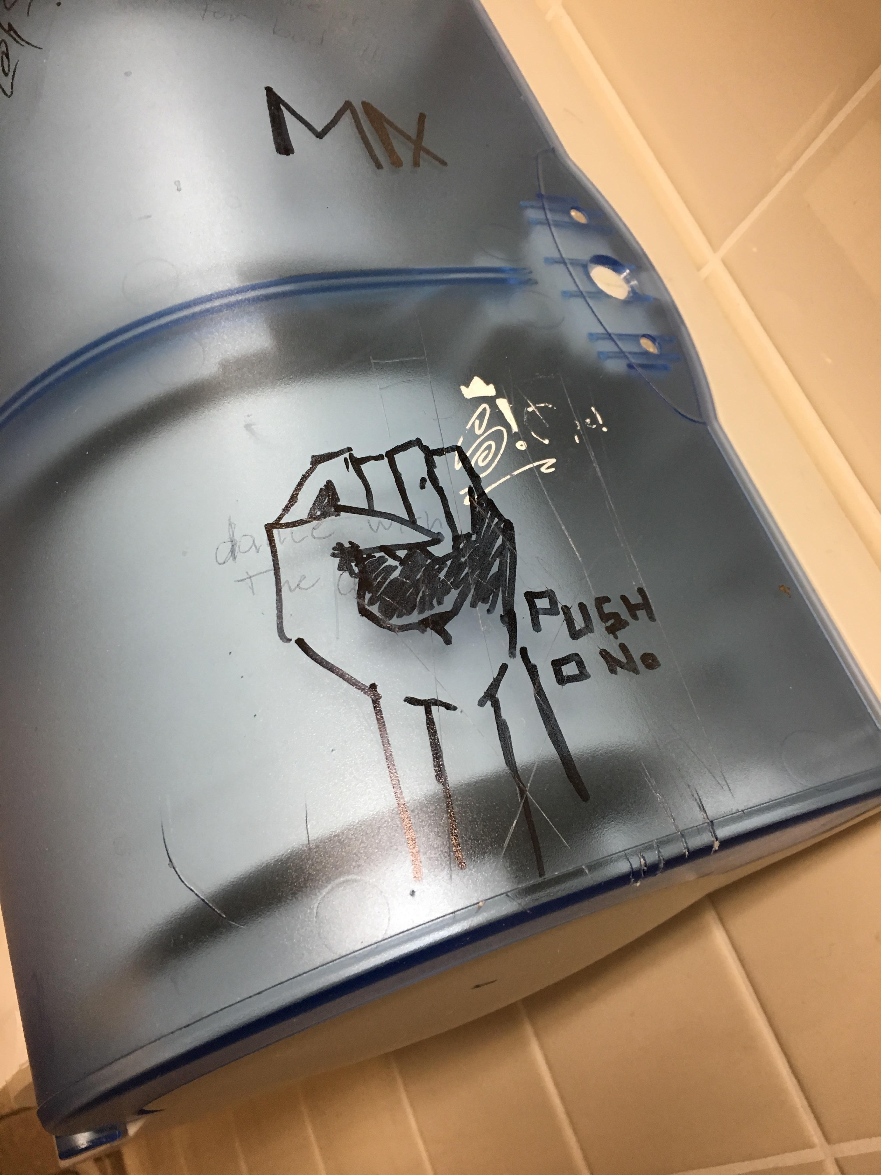 [Image] Found this bathroom graffiti to get me through Monday!
